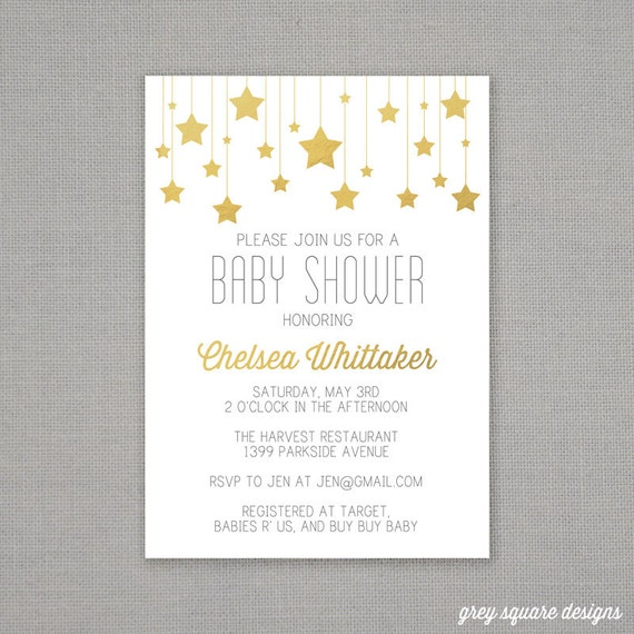 Baby shower invitation gold stars etsy image 0 filmwisefo