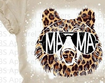 Ready to Press Screen Print HTV Transfers HIGH QUALITY Leopard Mama Bear