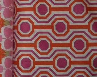 Bright and fun geometric print by Tanya Whelan for Free Spirit 1 yard cotton quilt fabric