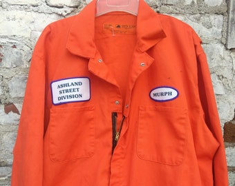 5fbda8ee353b 90s Orange Coveralls Jump Suit Flight Suit