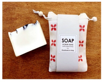 Organic Hemp Soap Pouch Scrub, with organic soap