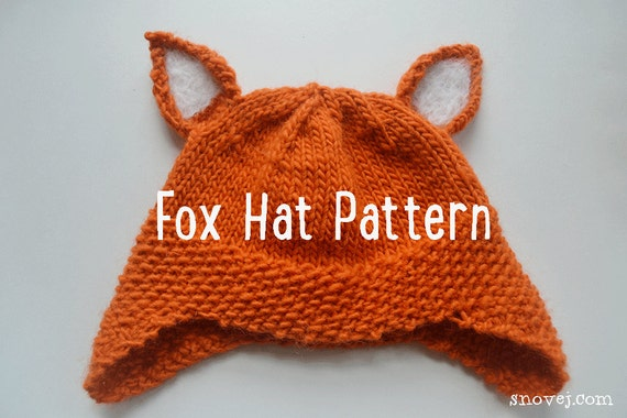 Pattern Knitted Woodland Fox Hat Etsy