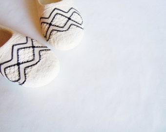 Felted slippers Rhombus
