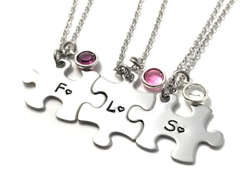 Personalized Initial necklaces, personalized puzzle piece necklaces, Best friends gift, sisters gift