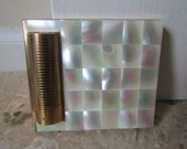 AGME Swiss Mother of Pearl Compact and Lipstick Holder