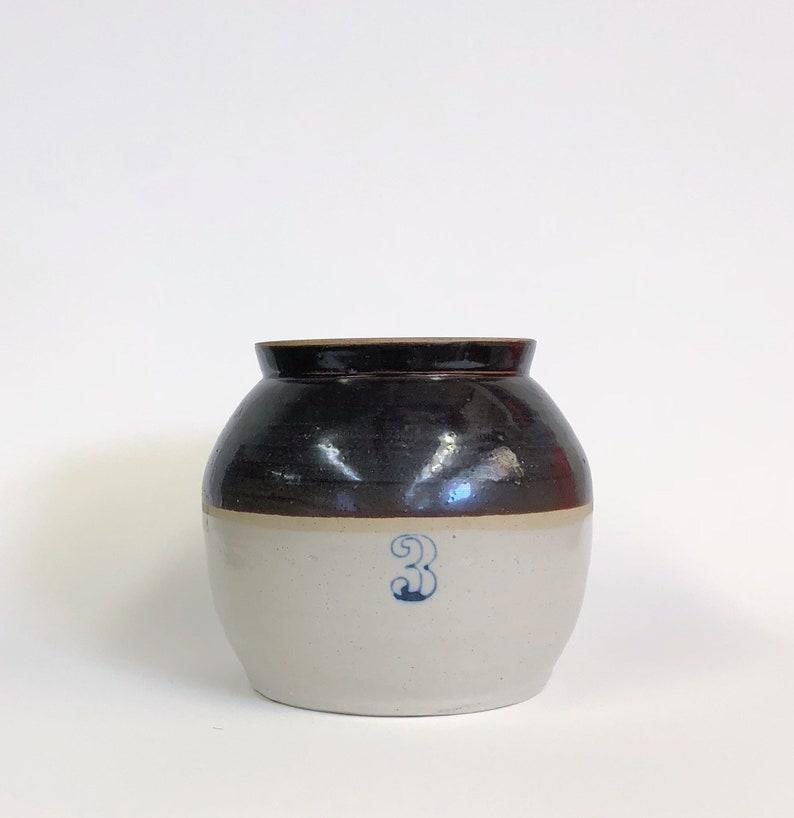 Stoneware crock Antique stoneware stoneware pottery Vintage Stoneware Jug stoneware planter Small Ceramic Planter Farmhouse decor