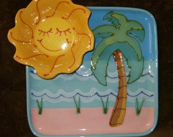 Tropical Sun Chip and Dip Tray