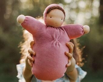 Waldorf doll // ecofriendly toy // natural fiber baby // cloth doll // bunting baby // waldorf toy // cuddle doll  // soft doll //  CDS