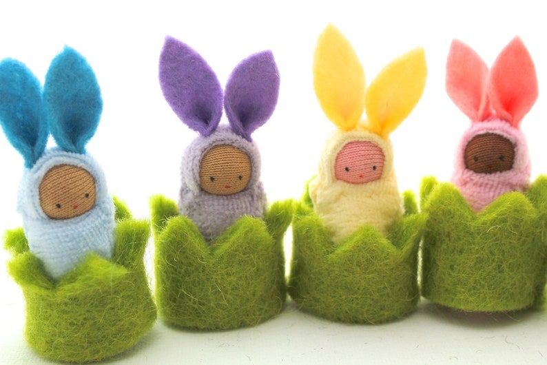 Easter bunny in a cozy // waldorf toy // little rabbit  // image 0
