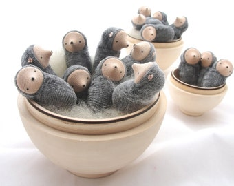 Small mole doll, waldorf toy, nature table, miniature mole
