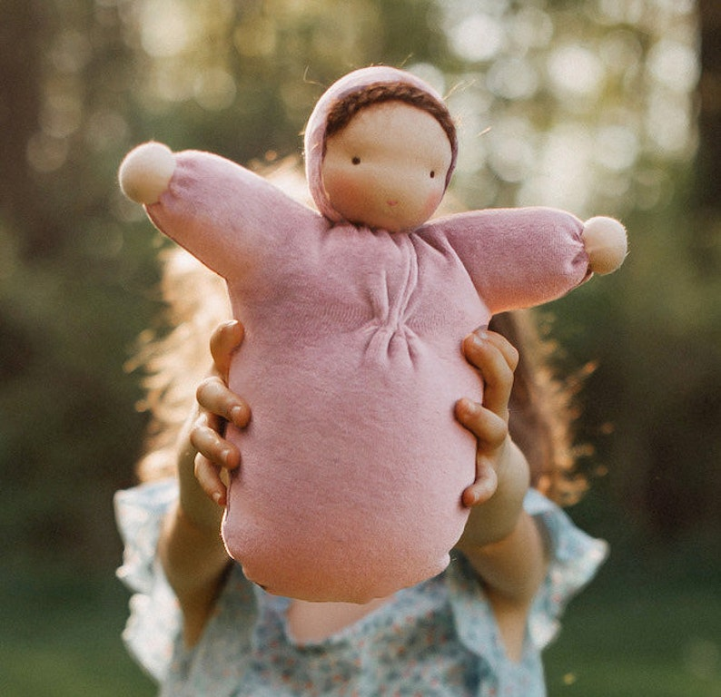 Waldorf doll // ecofriendly toy // natural fiber baby // cloth image 0