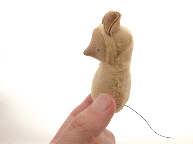 Mouse doll // mouse waldorf toy // miniature mouse // mice // image 0