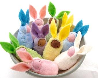 Easter bunny waldorf decor rabbit  bunnies easter basket favor