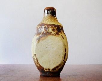 Vintage Studio Pottery / Ceramic Vase / Bottle Funky 70's Brutal
