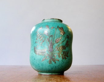 Vintage Gustavsberg Argenta Vase 1079 Wilhelm Kage