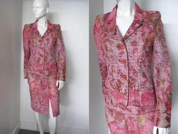 Gorgeous 1980s Christian Lacroix Designer Pink Flo