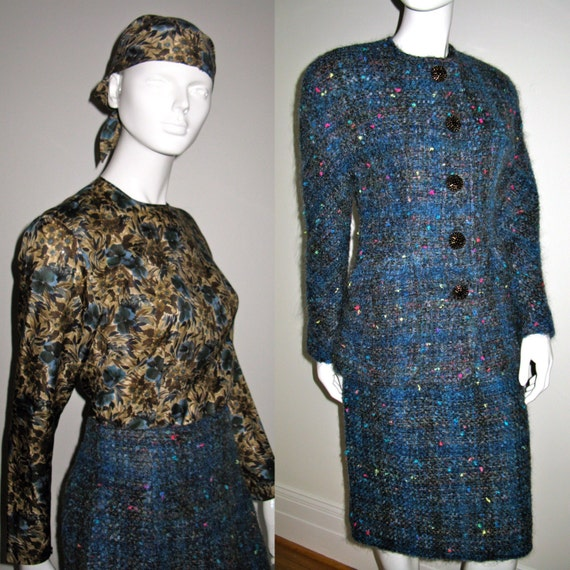 Vintage 1980s Koos Van Den Akker Skirt Suit with S