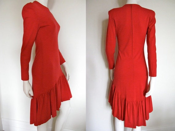 Stunning Vintage 1980s Patrick Kelly Red Dress wit