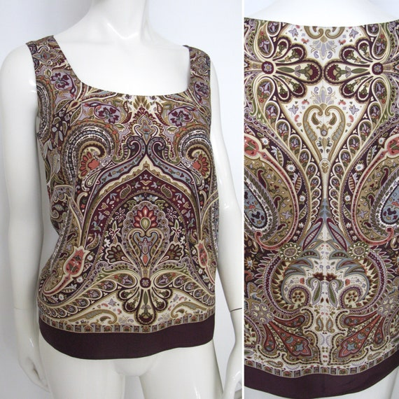 Vintage 1980s 1990s Emanuel Ungaro Silk Paisley Sl