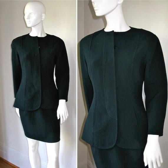 Vintage 1980s Geoffrey Beene Nan Duskin Skirt Suit