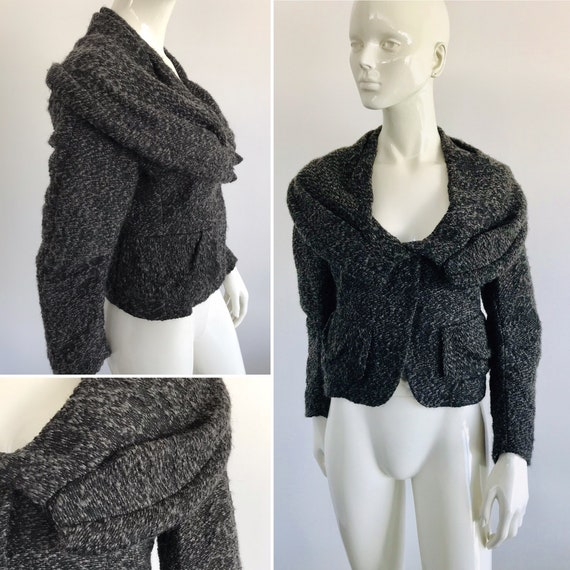 Vintage Donna Karan Black Label Wool Jacket with I