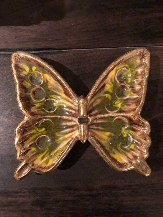 Vintage Butterfly Ashtray
