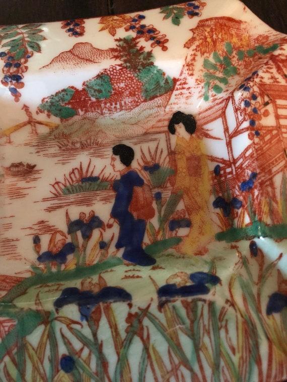 Antique Chinese Scene Ashtray