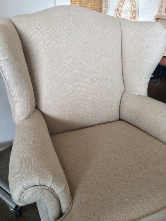 Linen Wing Chair