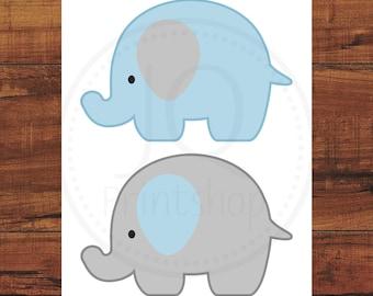Decoraciones Imprimibles Elefante Elefante Bebé Ducha Etsy