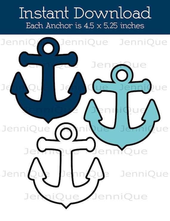 Printable Anchor Decoration Nautical Theme Baby Shower | Etsy