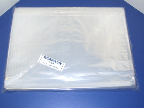 100 CLEAR 5 x 5 LAY FLAT OPEN TOP POLY BAGS PLASTIC PACKING ULINE BEST 1 MIL