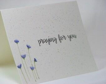 OOAK Handpainted Praying for You Greeting Card