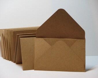 2x3.5 Kraft Gift Card Envelopes