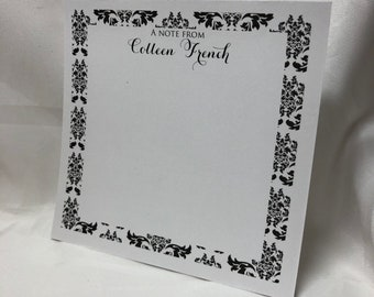 Personalized Damask Note Pad