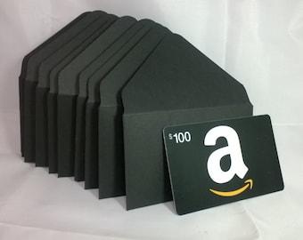 2x3.5 Black Gift Card Envelopes