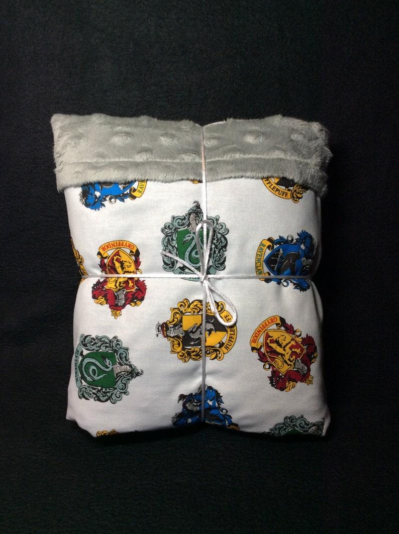 Harry Potter hogwarts baby blanket