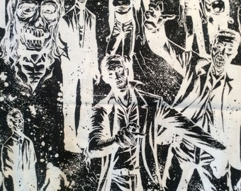Zombie fabric by Alexander Henry. 1 yard