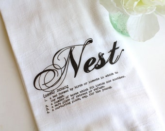 Flour Sack Towel, Tea Towel, Kitchen Towel, Hostess Gift, Wedding Present