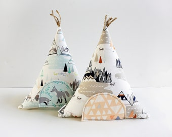 Tooth Fairy Teepee Pillow Toy, Decorative Pillow, Kids, Gift For Children, Stuffed Toy, Keepsake, Tipi,