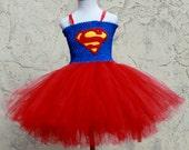 Supergirl tutu dress. Supergirl Halloween Costume - Supergirl Theme birthday - Superhero costume for girls - Superman birthday party & Items similar to Supergirl tutu dress. Supergirl Halloween Costume ...