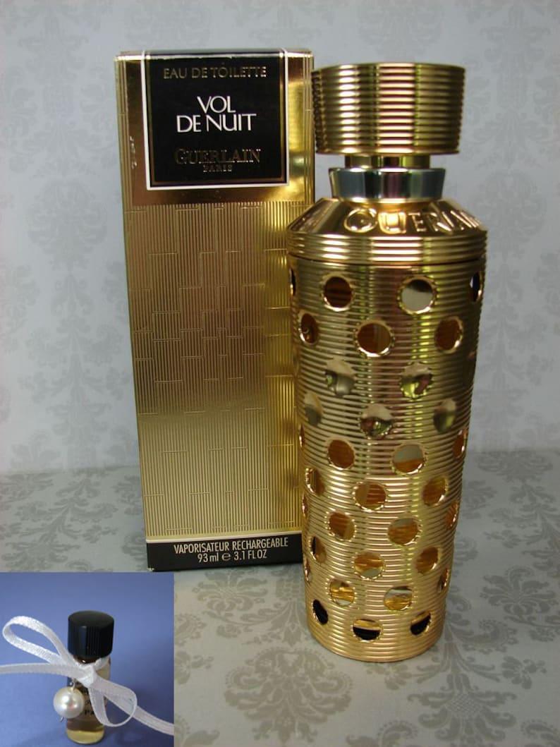 D'ordre Decant Toilette Vol De Bouteille Nuit Guerlain Parfum Vintage Original Eau Decanted Verre vm8n0Nw