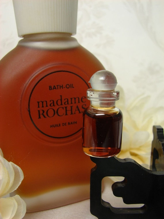 Vtg Decanted Hard Perfume Rochas Find And Oil Sample To Madame Bottle Bath 2ml Perfumed Freshly Rare dCxoeB