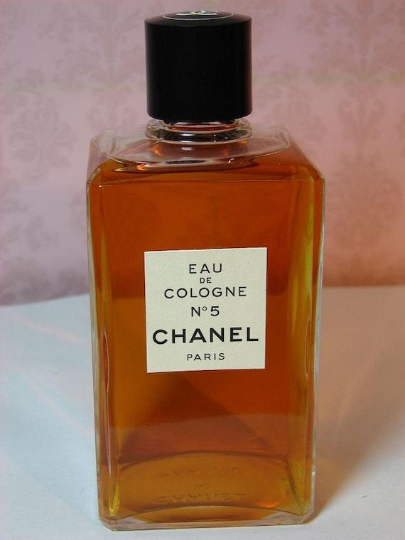 2b5aee92d6 Vintage Chanel No 5 Perfume 8 Oz GOLD SEALED Eau de Cologne | Etsy