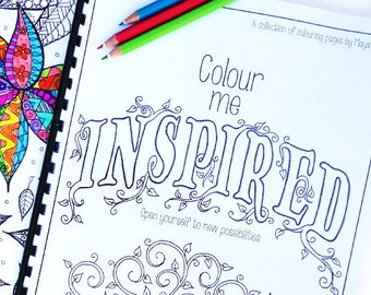 Adult Colouring Book - Coloring Pages - Zentangle - Colour Me Inspired