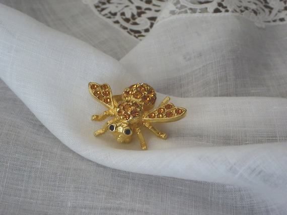 Amber Crystal Bee Pin Joan Rivers, Joan Rivers Gol