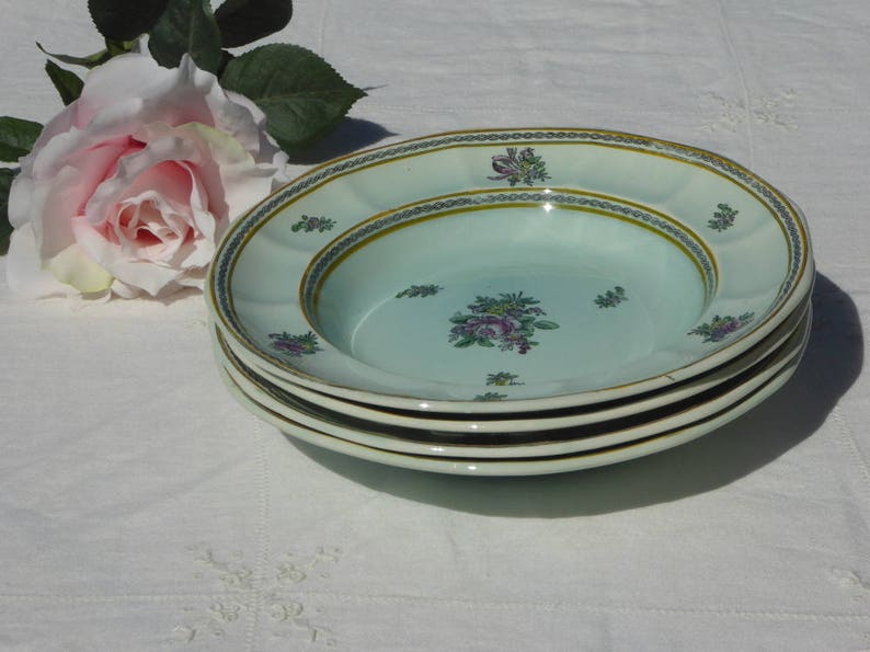 Adams Calyx Ware Nanking Four Soup Bowls Old Date Mark Etsy