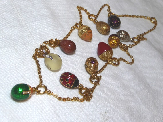Joan Rivers 11 Egg Charm Necklace, Retired Joan Ri