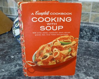 Vintage Campbell Soup Cookbook, 1968 Cooking with Soup Campbell Soup