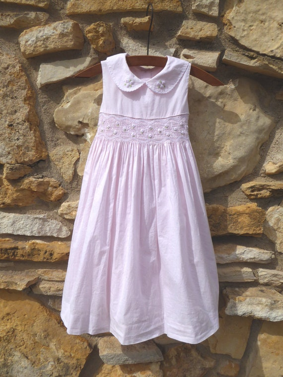 Vintage 3T Laura Ashley Pink Cotton Mix Dress with
