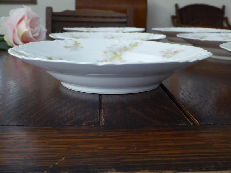 Vintage Bretagne Haviland Limoges 6 Large Soups \u00d8P Haviland Limoges Bretagne 6 Large Rim Soup Bowls Bretagne Haviland Limoges Porcelain